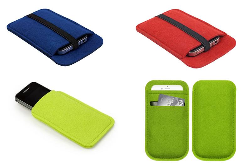 felt mobile phone bag